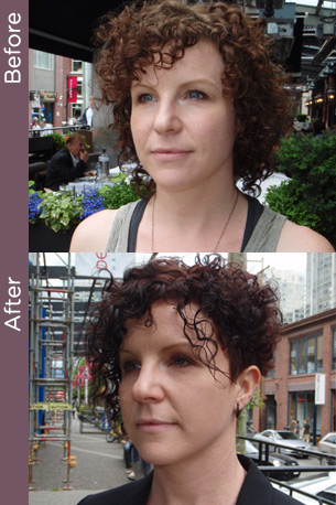 Curly hair before and after photos