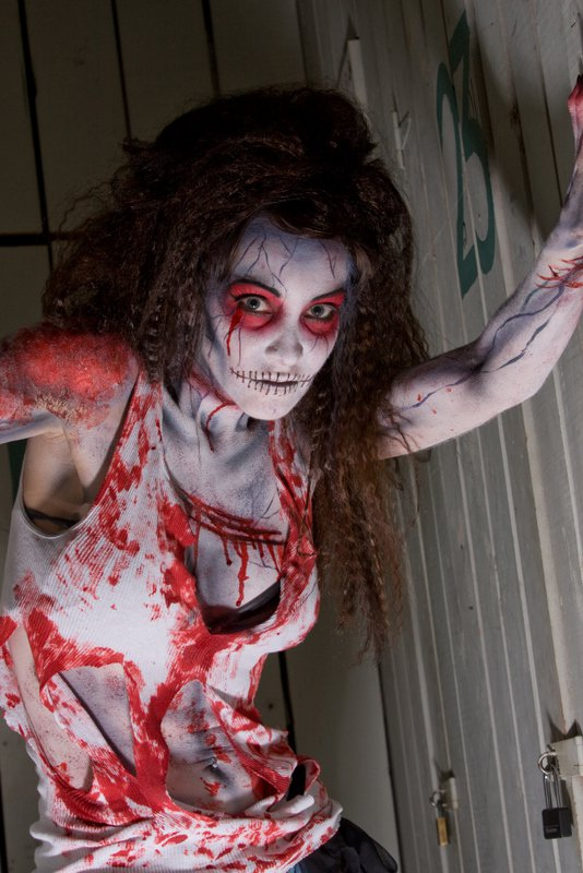 Zombie with crazy hair