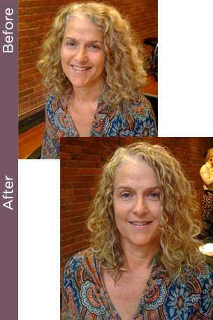 Before & After keratin smoothing