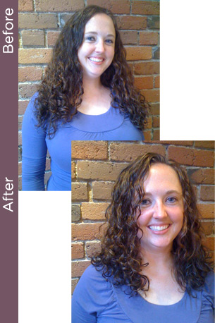 Curly before & After