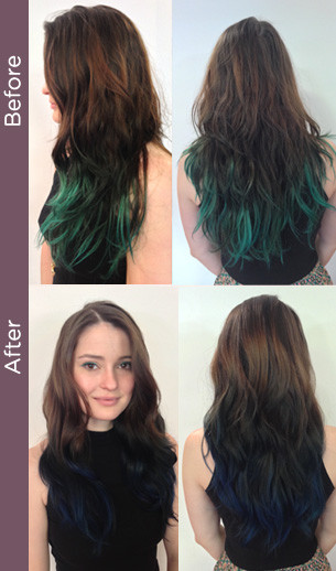 Curly Hair Vancouver Before After Creative - Creative hairstyle color