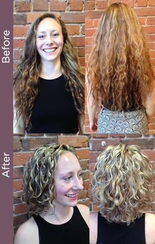 Curly Hair Vancouver Before After Curly