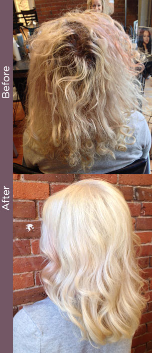 Curly Hair Vancouver Before After Colour