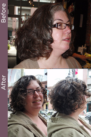 Curly hair before & after 14