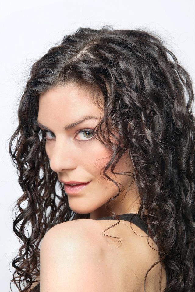 Long dark curly hair