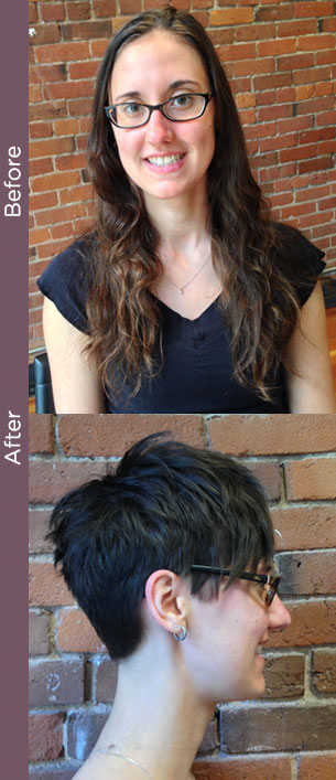Dramatic haircut